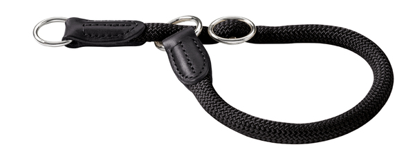Collier rond nylon Hunter Freestyle taille 10 mm 55 cm 39111 noir