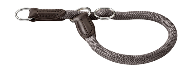 Collier rond nylon Hunter Freestyle taille 10 mm 45 cm 46522 gris