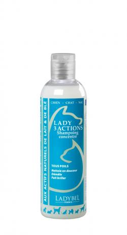 shampoing poils précieux Lady 3 Actions Ladybel 200 ML