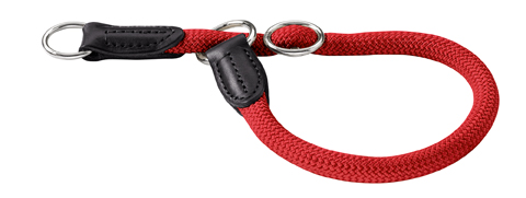 Collier rond nylon Hunter Freestyle taille 10 mm 45 cm 40712 rouge