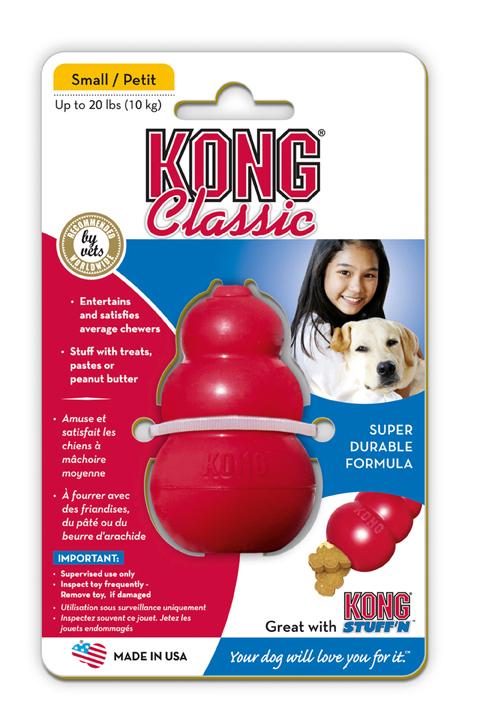 jouet à garnir semi dur pour chien kong classic 41938 10 cm