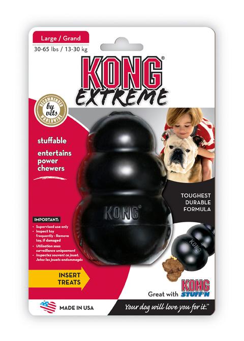 jouet dur solide pour musculature de machoire grand chien kong extreme 16 cm