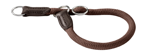 collier avec stop nylon solide pour chien hunter freestyle 45 cm 436622 marron