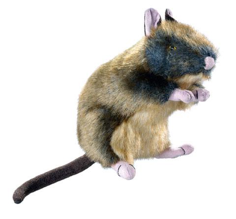 jouet peluche réveil instinct du chien hunter wildlife 44537 rat 13 cm
