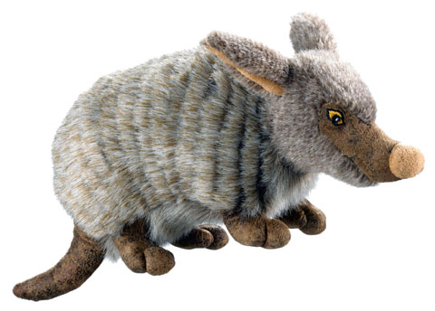 jouet peluche réveil instinct hunter wildlife 44539 tatou 13cm
