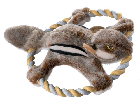 jouet peluche corde écureuil hunter wildlife 44544 32cm