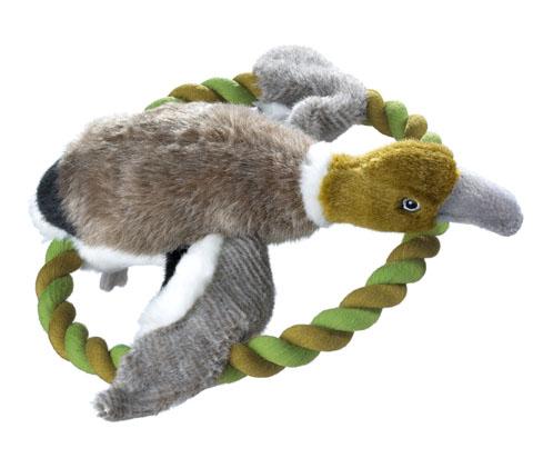 jouet peluche animaux reveil instinct du chien canard frisbee hunter wildlife 44546 27cm