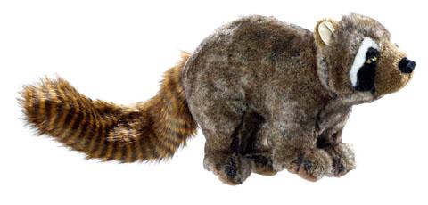 jouet peluche réveil instinct raton laveur hunter wildlife 44547 33cm