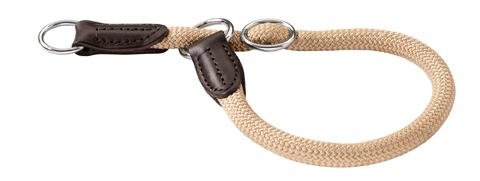 collier avec stop nylon solide pour chien hunter freestyle 45 cm 46486 beige