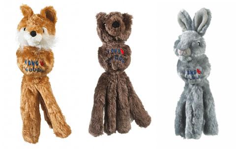 jouet peluche robuste avec balle couineur grand chien kong wubba friends 37 cm