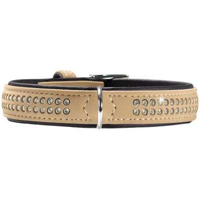 collier à Swarovski petit chien 47576 Softie Deluxe Hunter 23-29 cm beige simili-cuir
