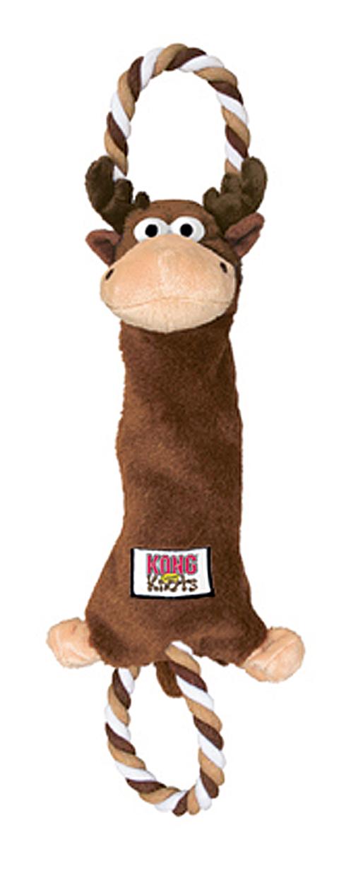 jouet peluche corde kong tugger knots cerf 20 cm pour chien