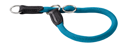 Collier rond nylon  Hunter Freestyle taille10 mm 45 cm 47857 turquoise