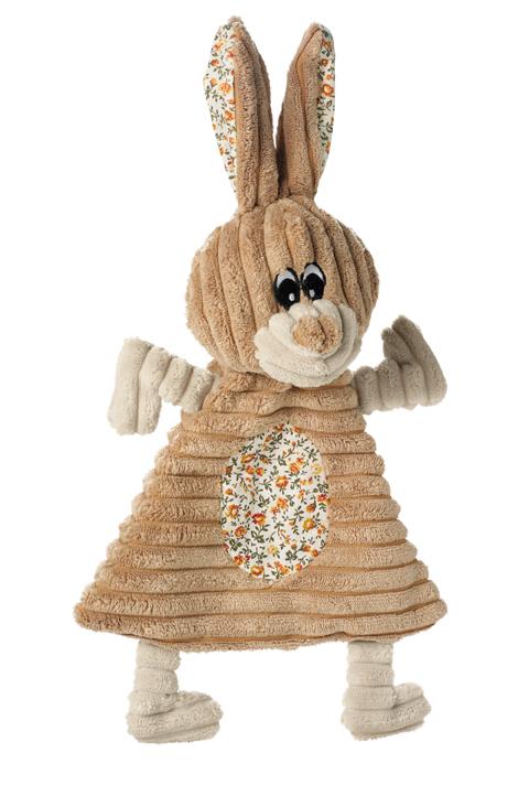 jouet peluche coton avec couineur lapin hunter 60672 huggly 36 cm