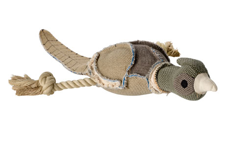 jouet peluche corde avec couineur hunter 60953 wild canard 27 cm