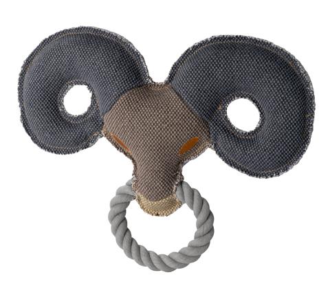 jouet peluche coton pour chien hunter canvas 60955 belier 28 cm