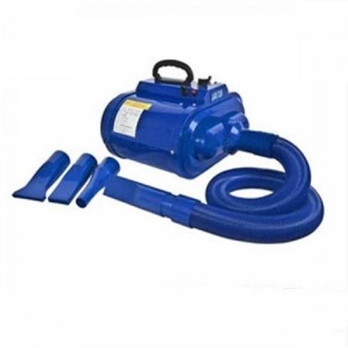 pulseur séchoir professionnel bleu portable bi-moteur 3800W pour chien