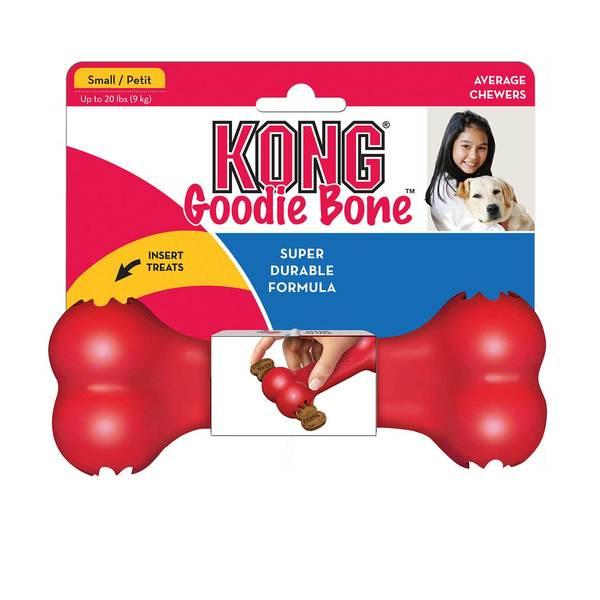 jouet os caoutchouc naturel à garnir de biscuit kong goodie bone pour chien