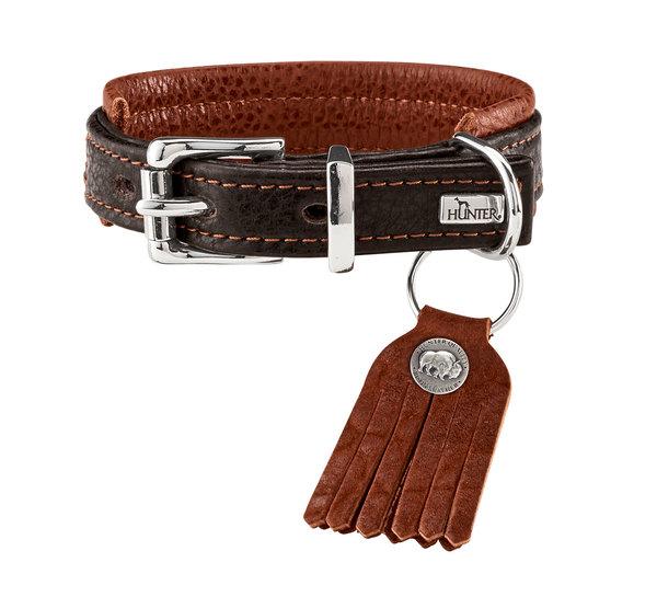 collier cuir de luxe de bison hunter cody comfort