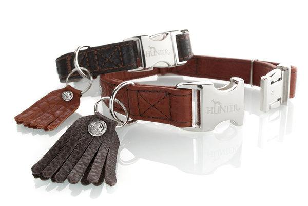collier à clips cuir de luxe hunter cody alu strong