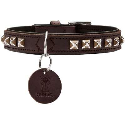 collier pour chien Hunter Larvik Style cuir et strass
