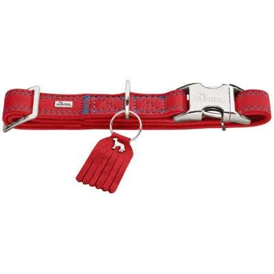 collier à fermeture clips pour chien Hunter Lucca Alu-Strong cuir