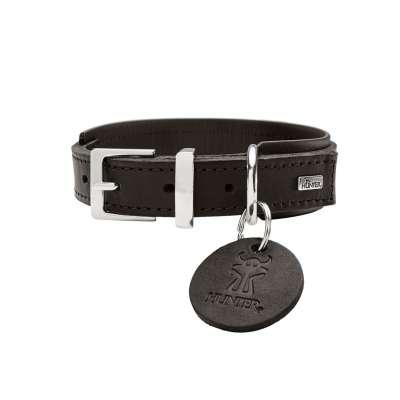 collier cuir large pour chien hunter larvik comfort
