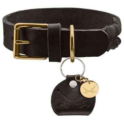 collier cuir tressé hunter sansibar solid pour chien