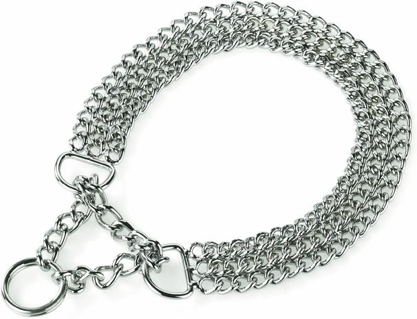collier martingale chainette 3 rangs d'expo ou de promenade