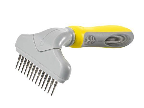 râteau peigne à dents rotatives pour chien Hunter