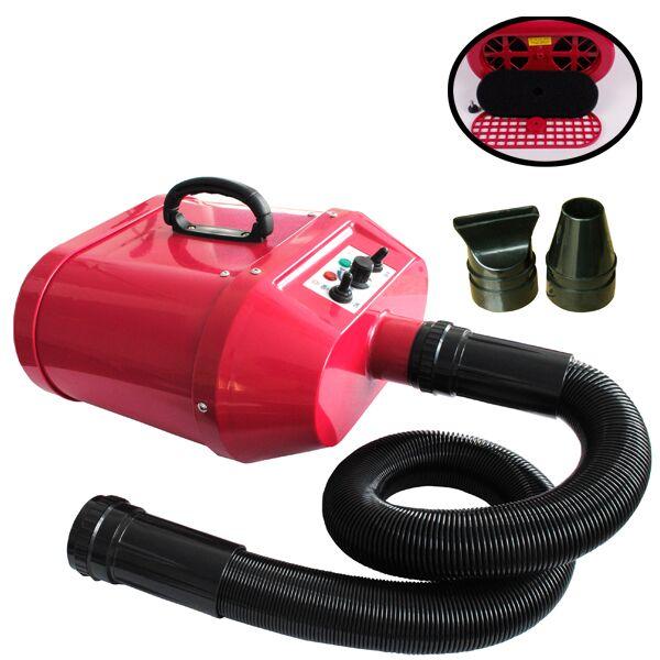 pulseur séchoir professionnel portable rouge bi-moteurs