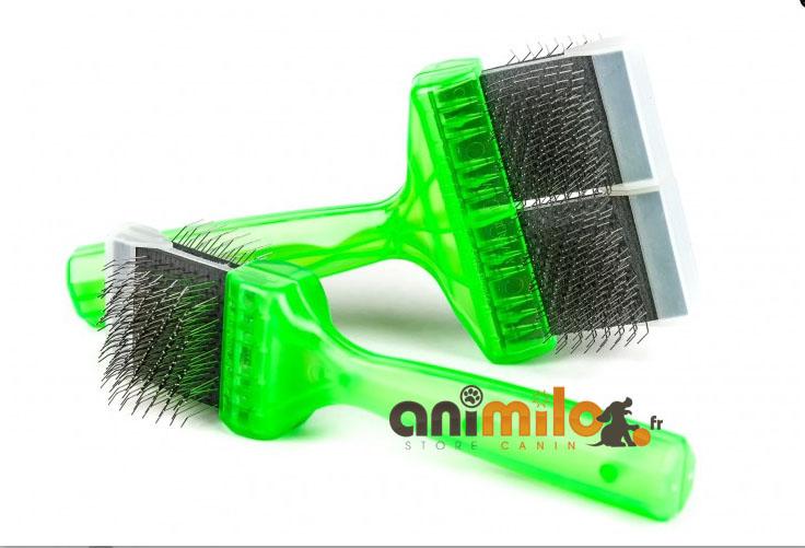 brosse douce activet® pro brush poochs verte double poils