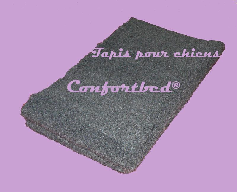 tapis confortbed vetbed éleveur gris anthracite uni 32 mm 100x150 cm