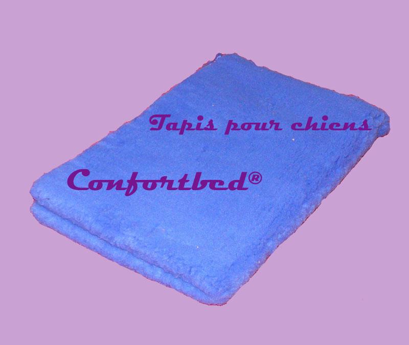 tapis confortbed vetbed éleveur bleu vif uni 100x150 cm 26 mm