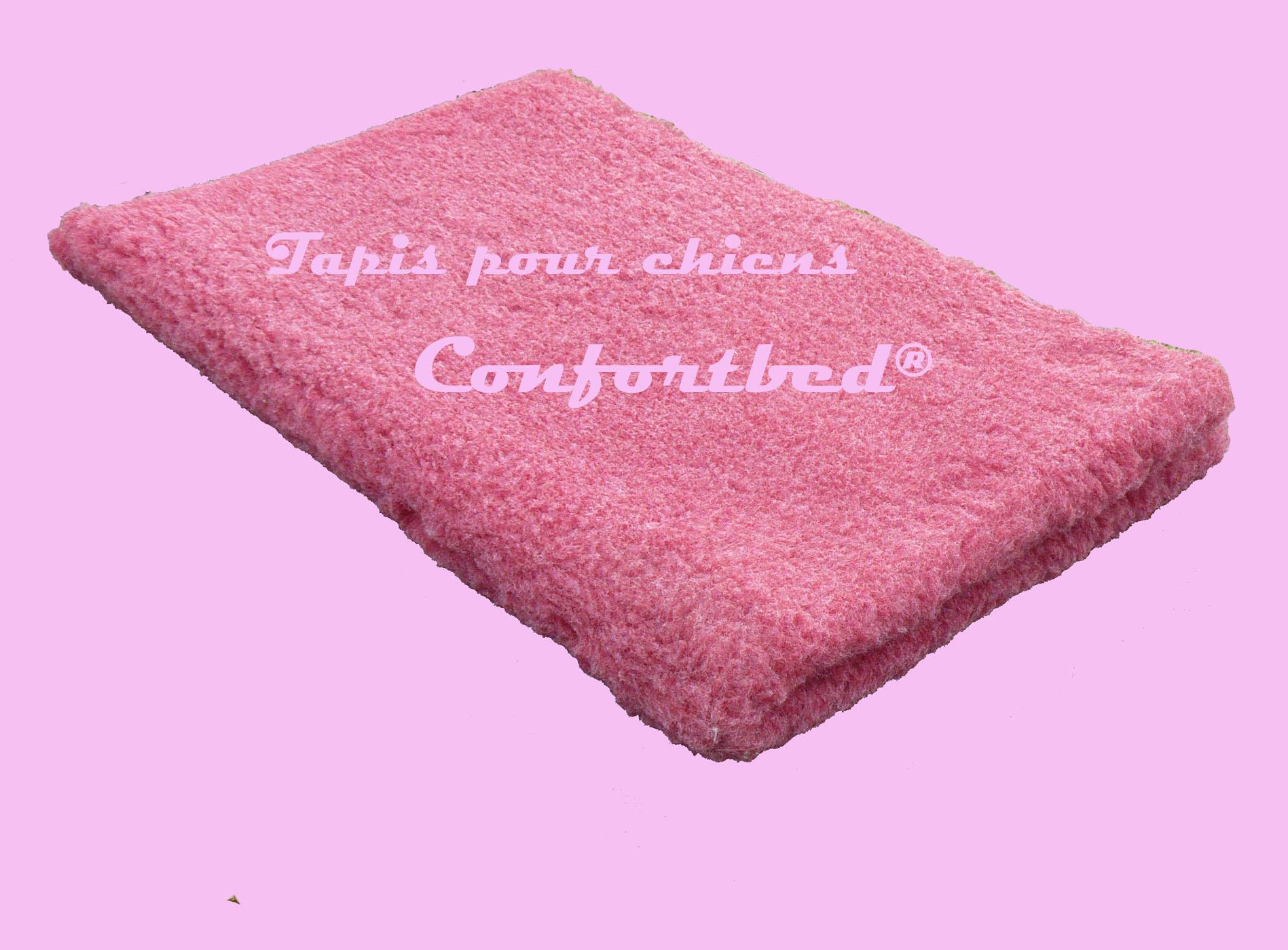 tapis confortbed vetbed éleveur bordeaux uni 100x150 cm 26 mm