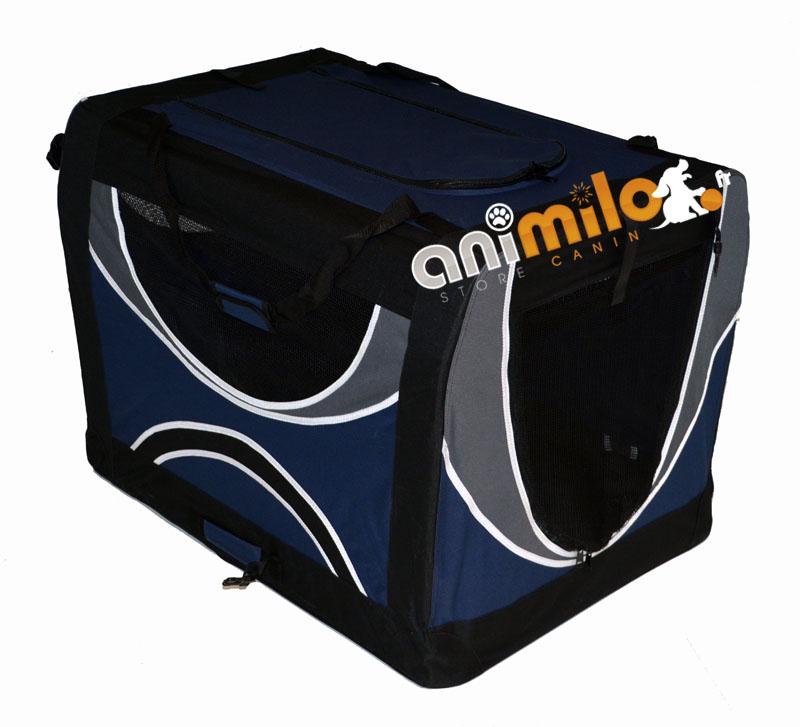 3b723323459fa6 cage niche tissu pliable de qualité pour chien Animilo.fr