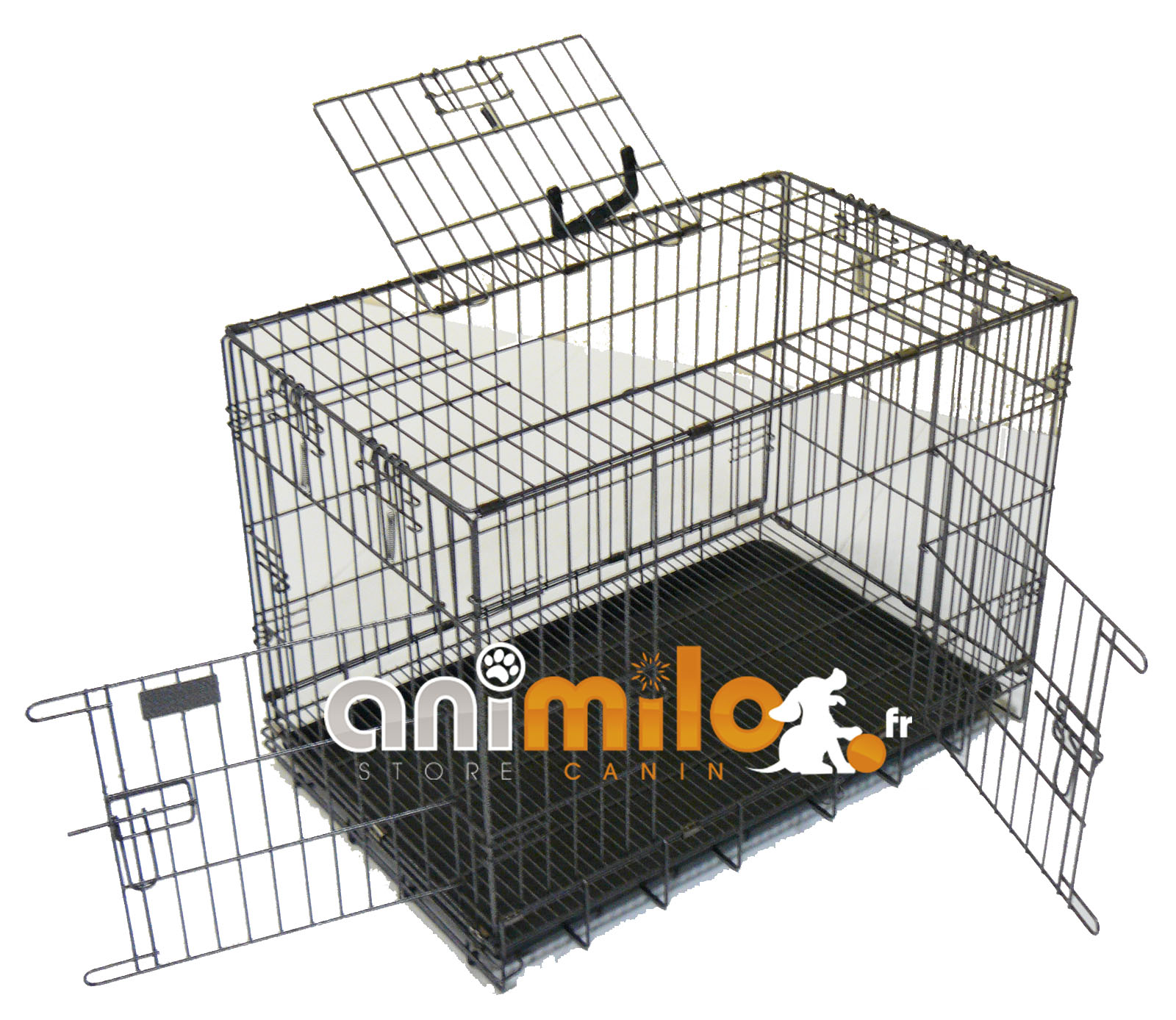cage m tal eleveur t6 pour grand chien. Black Bedroom Furniture Sets. Home Design Ideas