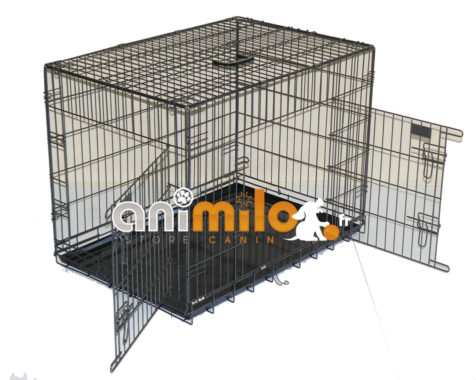cage métal extra solide T2 64x56x62 cm pour chien et chat