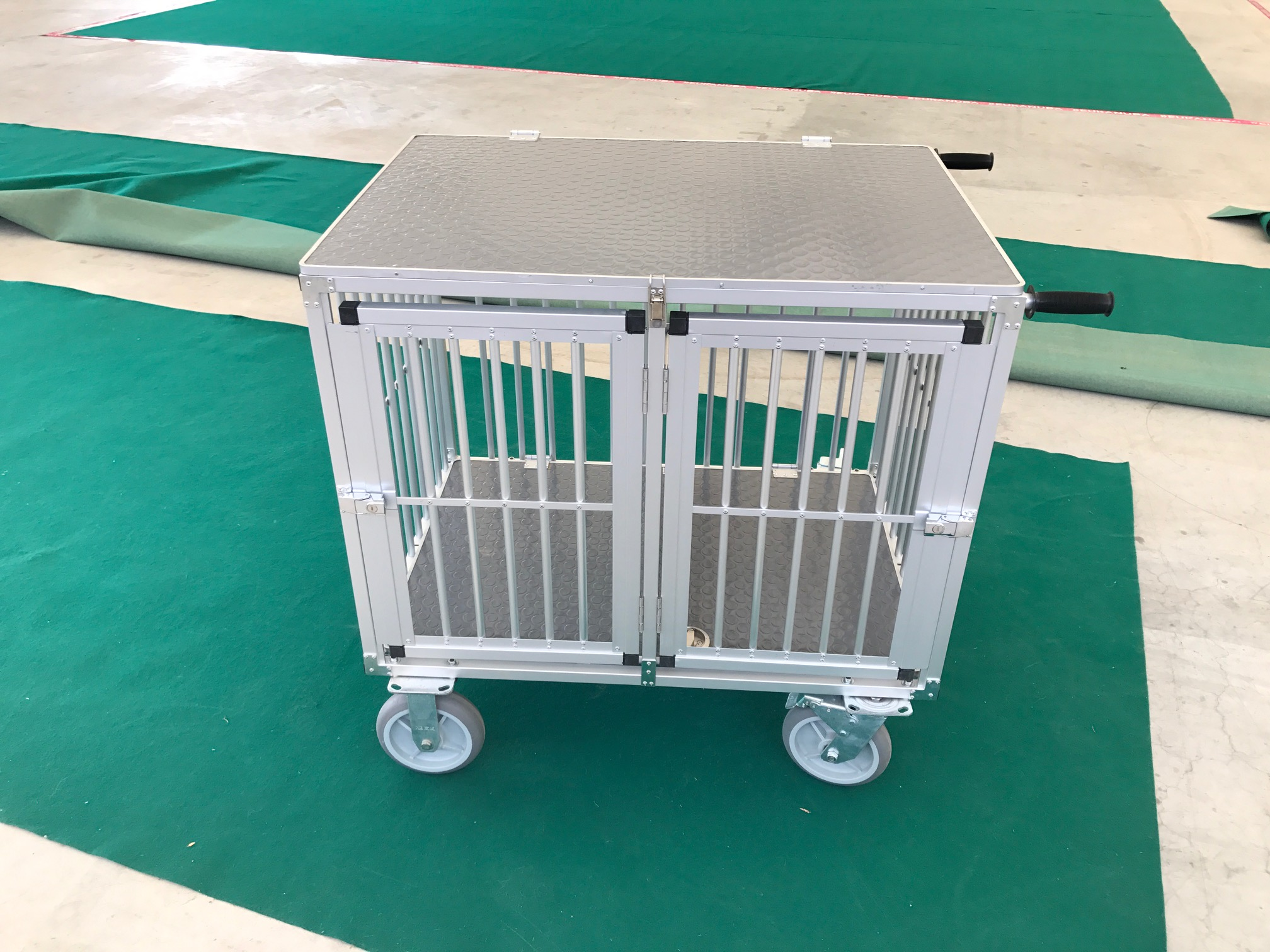 chariot cage alu 2 compartiments show trolley pour expo