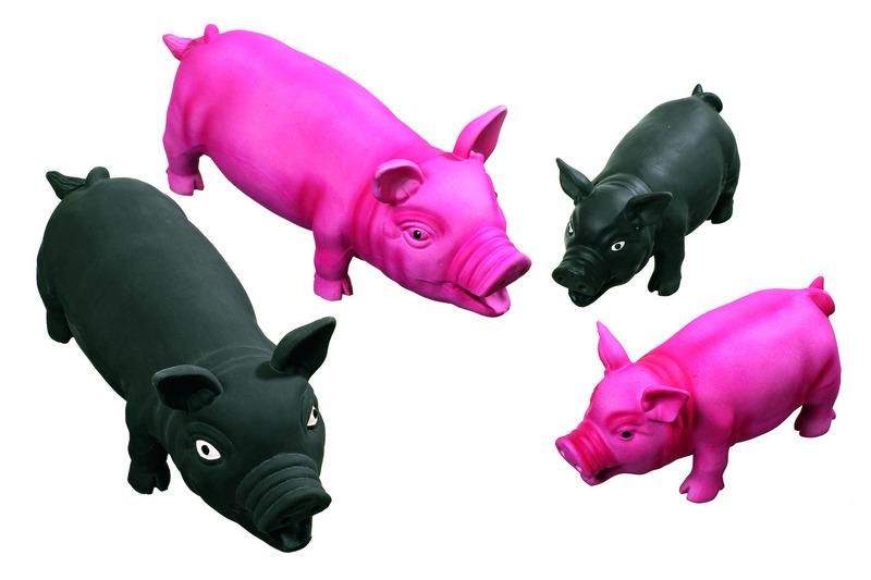 jouet-chien-cochon-karlie-22 cm-noir