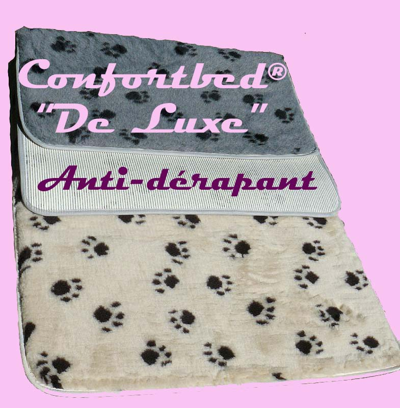 tapis Confortbed Vetbed de luxe antidérapant 75x100cm gris
