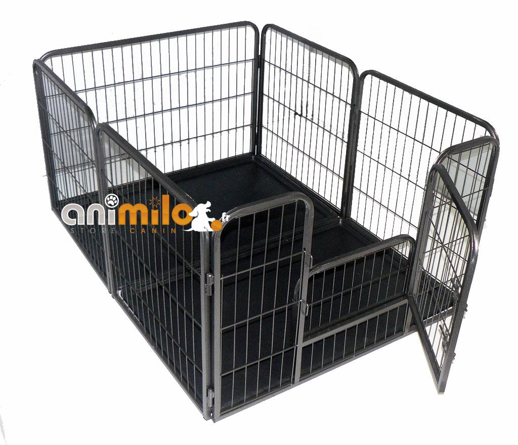 parc mise bas modulable costaud 2 bacs de protection de sol pour chien et chiot. Black Bedroom Furniture Sets. Home Design Ideas