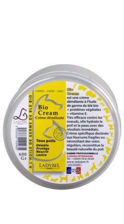 conditionneur hydratant à l'huile de germe de blé bio crème ladybel 450g