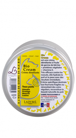 conditionneur hydratant à l'huile de germe de blé bio crème ladybel