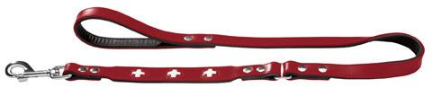 laisse cuir rouge Hunter Swiss, accessoire pour chien