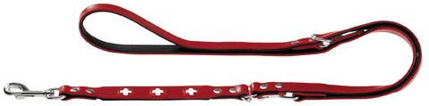 Laisse réglable rouge Hunter Swiss, accessoire pour chien