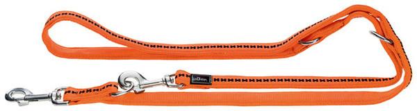 laisse réglable hunter Power Grip, orange