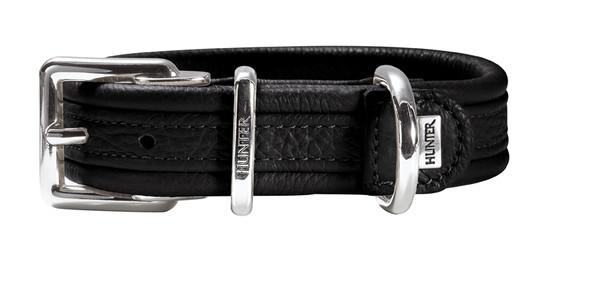 Collier cuir boeuf nappa noir Hunter Spécial Edition