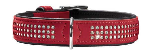collier en cuir Hunter Softie Triluxe rouge