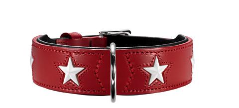 collier cuir rougeHunter Magic Star, pour la promenade du chien